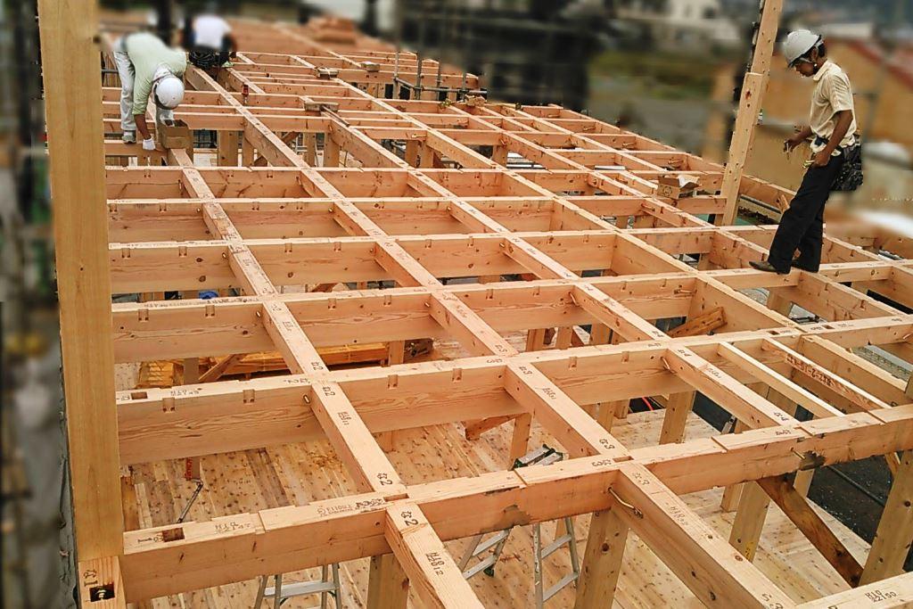 想いを込めたブロックプランの家上棟