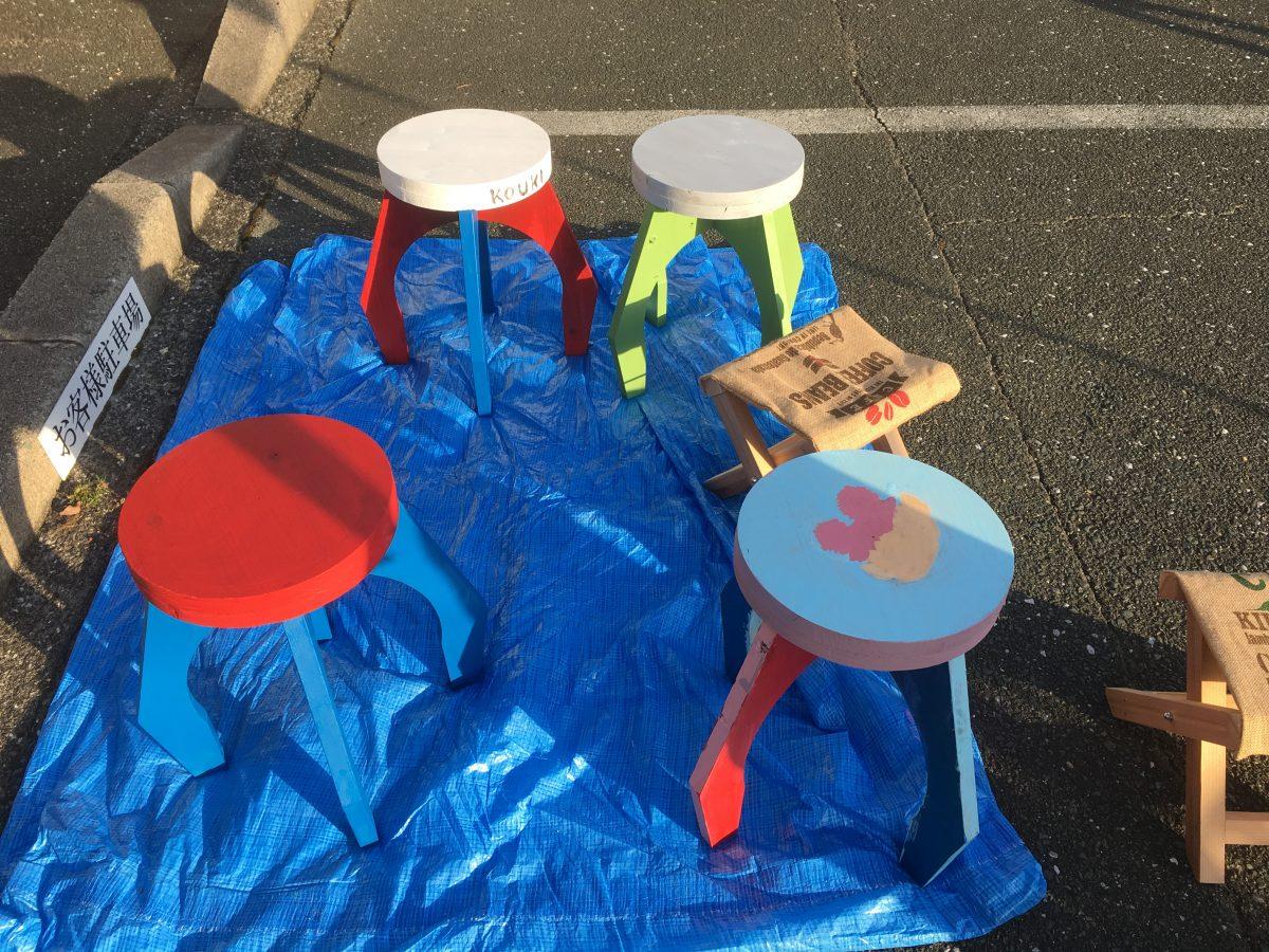 イベントご参加のお客様による手作りの椅子