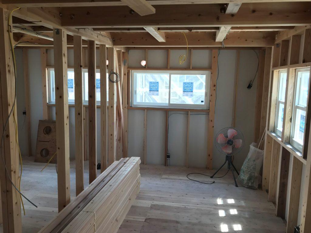 整理整頓と清掃の行き届いた木造住宅建築現場
