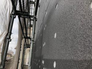 外壁施工前の外貼り断熱材(ネオポール)