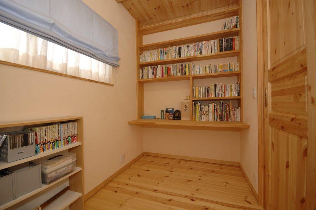 注文住宅ならではの造作本棚