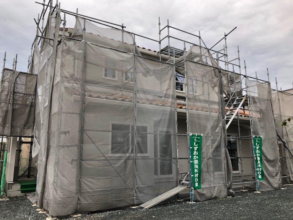 木造新築住宅完成間近の外観