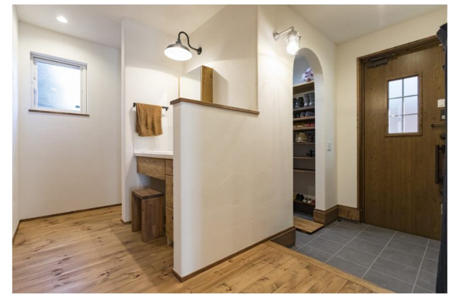コロナ対策に◎な玄関すぐの洗面スペース