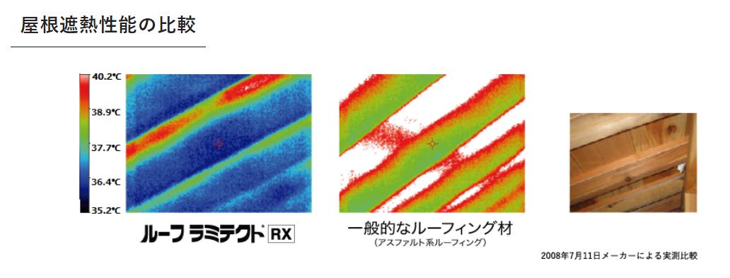 屋根遮熱性能の比較