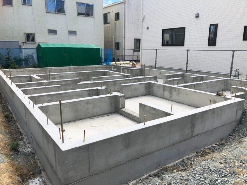 鉄筋コンクリートベタ基礎の完成