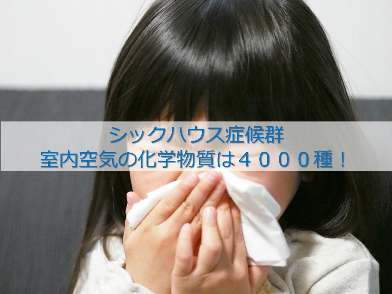 シックハウス症候群 室内空気の化学物質は4000種…