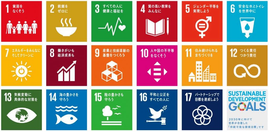 SDGsの17の開発目標