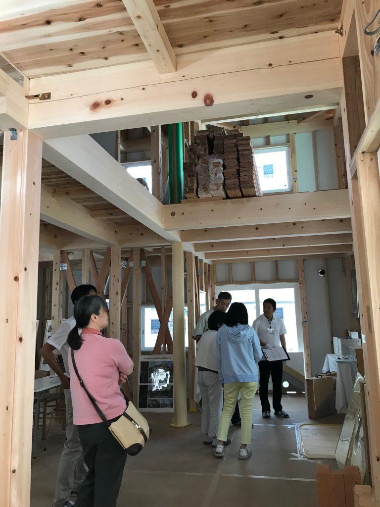 総檜の家、構造見学会開催しました
