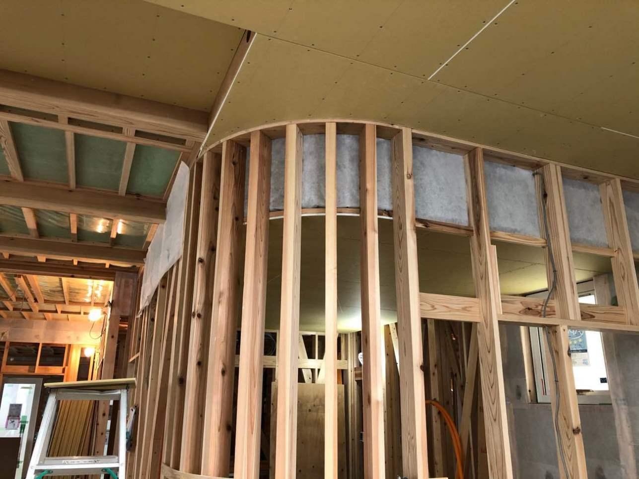 美容室兼用住宅 3月完成予定です!