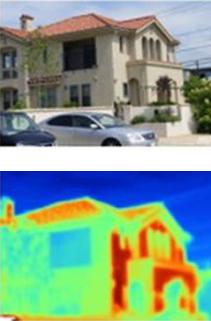 サーモグラフィによる外壁温度比較 一般的な塗り壁材