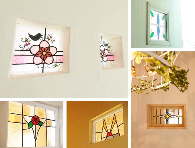 写真:ステンドグラスの施工例