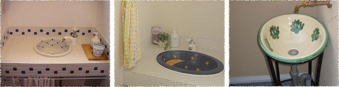 写真:トイレ手洗い(シンク&タイル/ベランダ用)の施工例