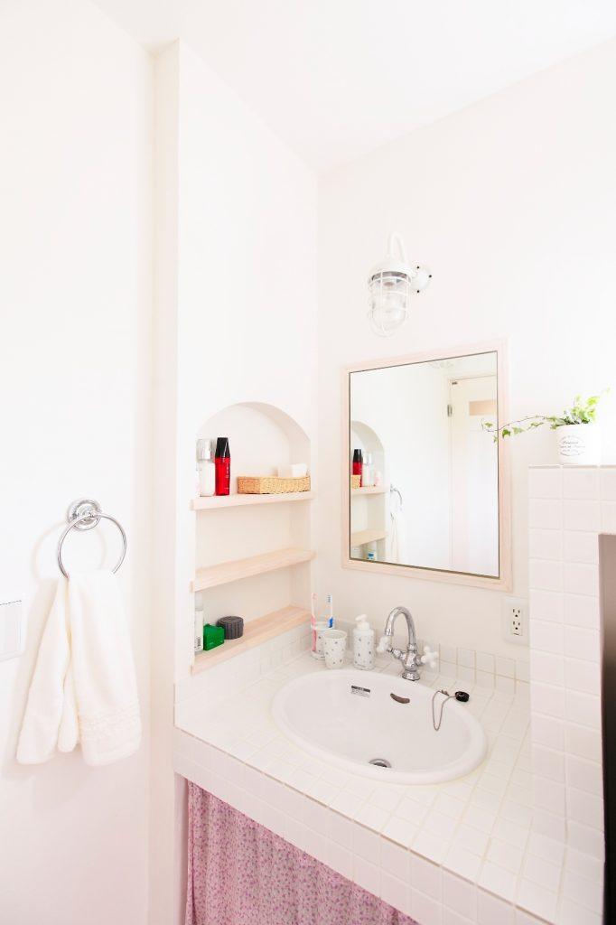 洗面スペースにも使い勝手を考えた工夫が満載。