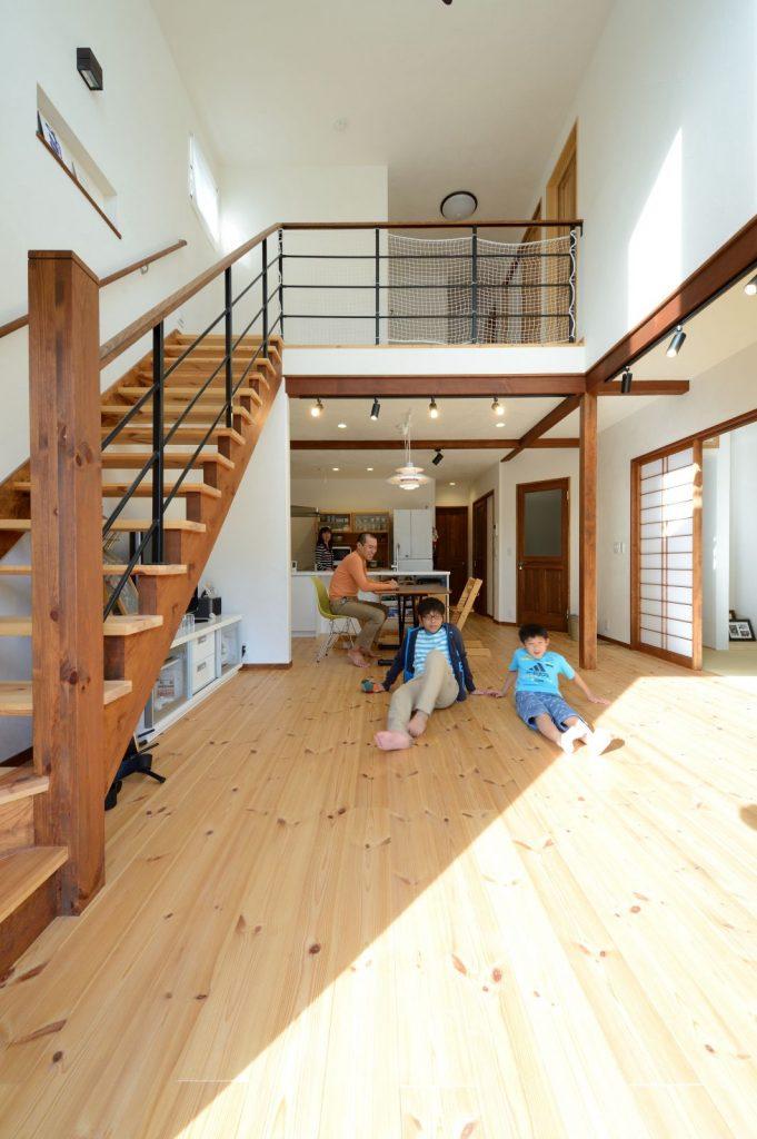 LDKと和室を合わせると約30畳の大空間!