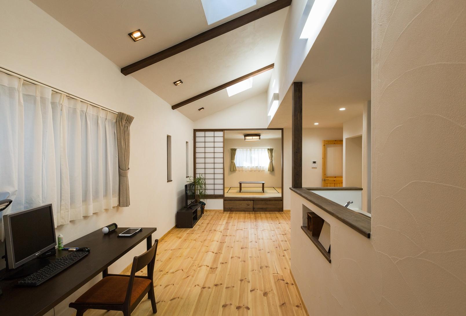 自然素材が心地良い 和風モダンスタイルの平屋住宅