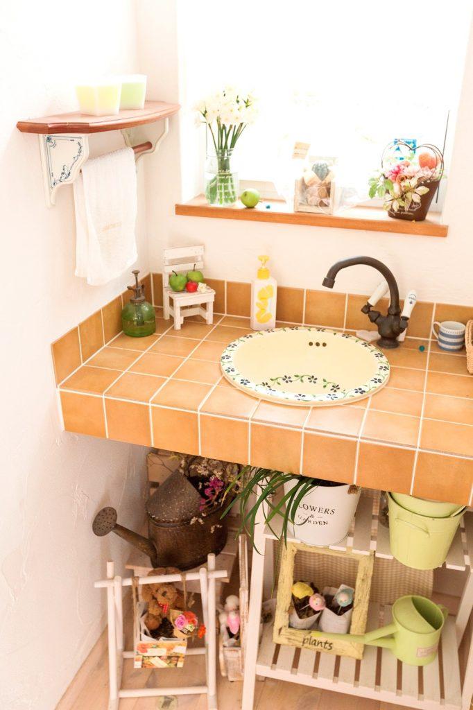 オシャレな雑貨が似合う オリジナル洗面台