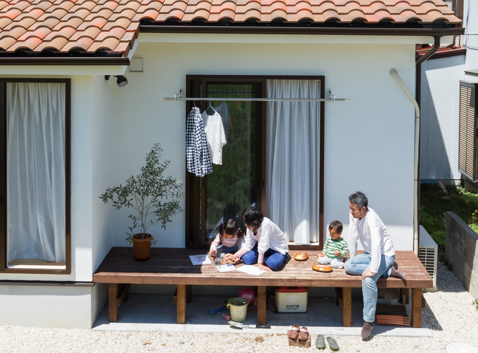 子どもを見守りながら お料理と自然空間を楽しむ暮らし
