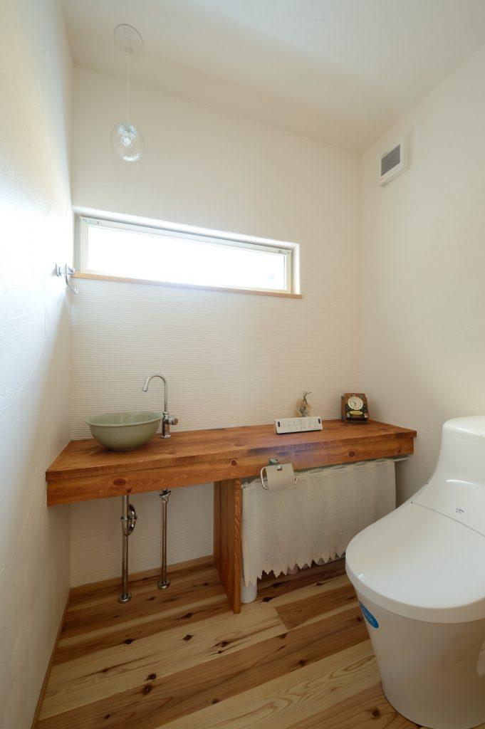 非日常を味わえる広々トイレ
