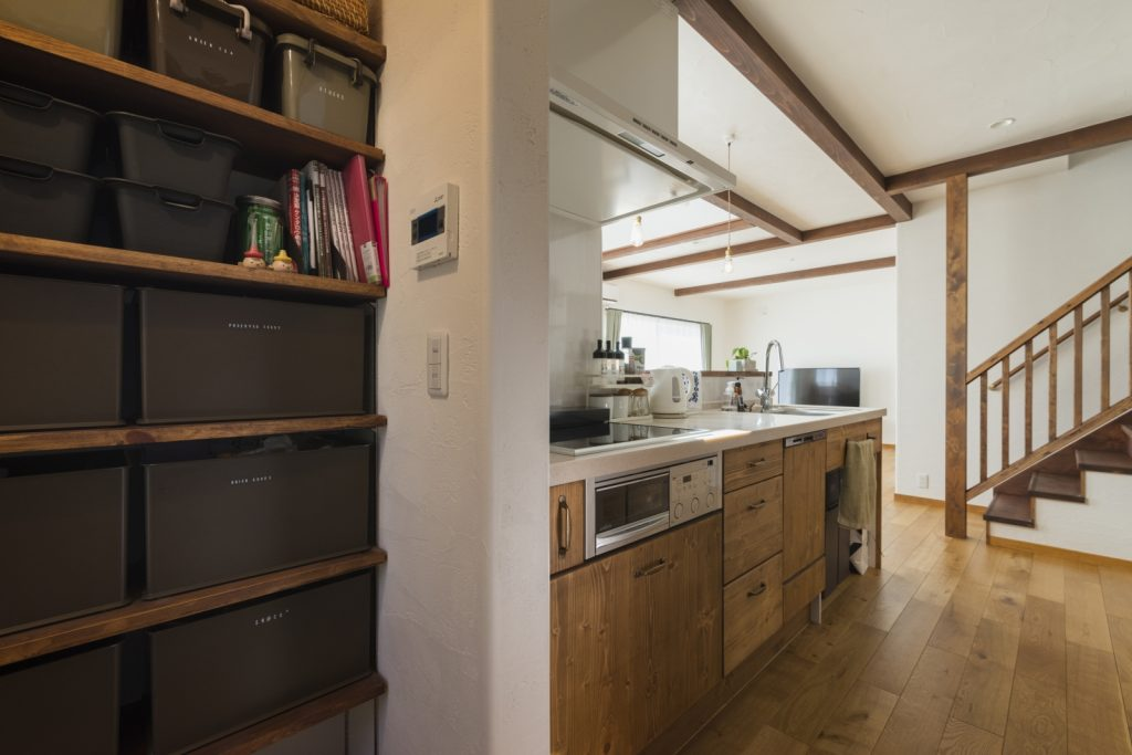 収納力のあるキッチン