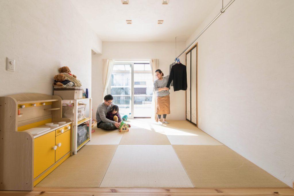 部屋干しも◎琉球畳の和室
