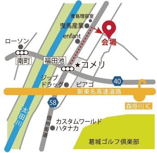 堀内様邸地図
