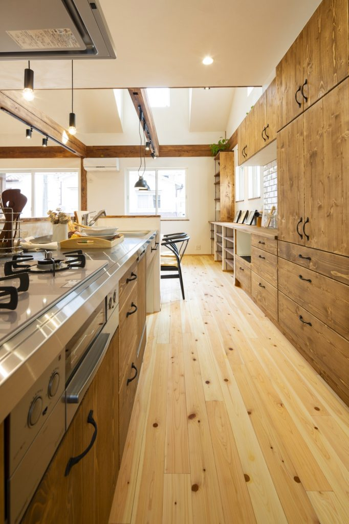 大容量のキッチン収納で毎日スッキリ!