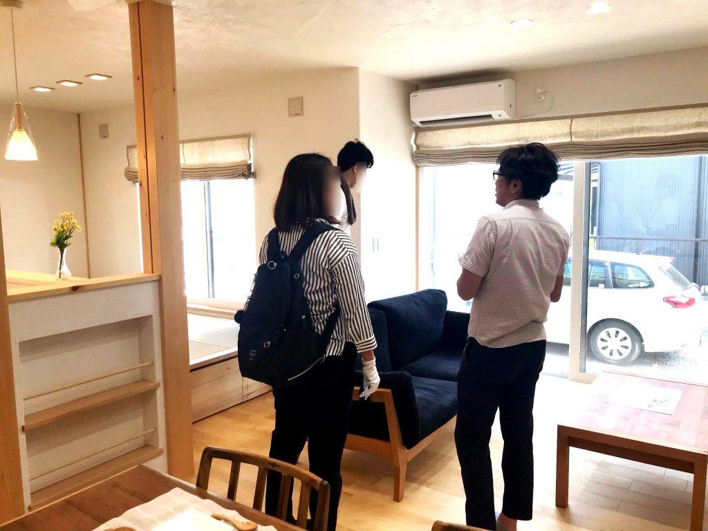 豊川市新築住宅完成見学会の様子