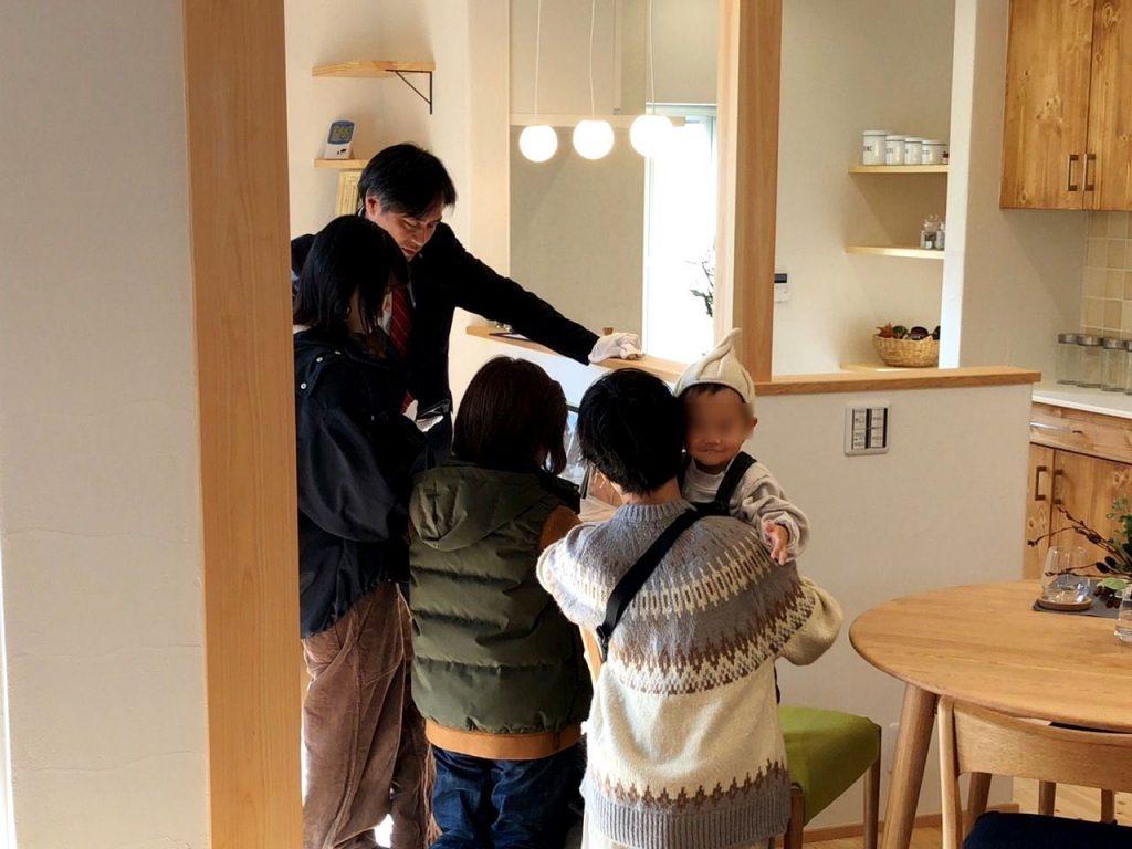 住宅完成見学会の室内