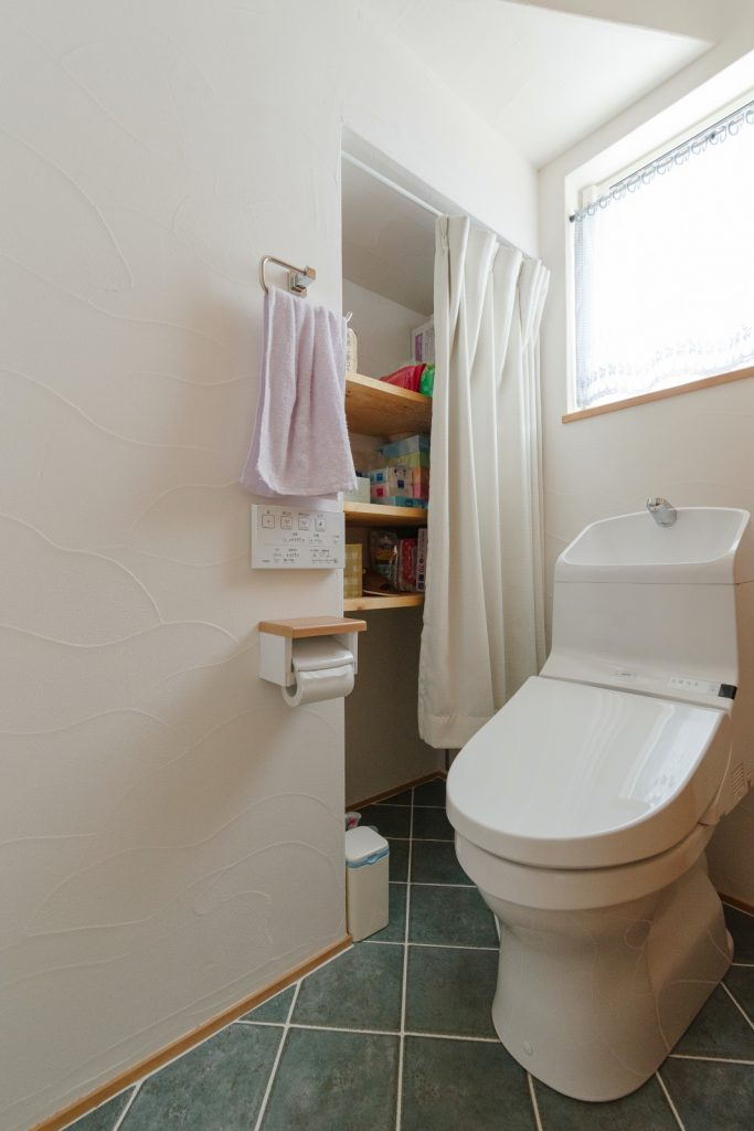 収納◎お手入れしやすいトイレ