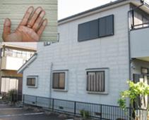 建築後10年以内のサイディング 外壁全体の劣化、汚れ、チョーキング現象