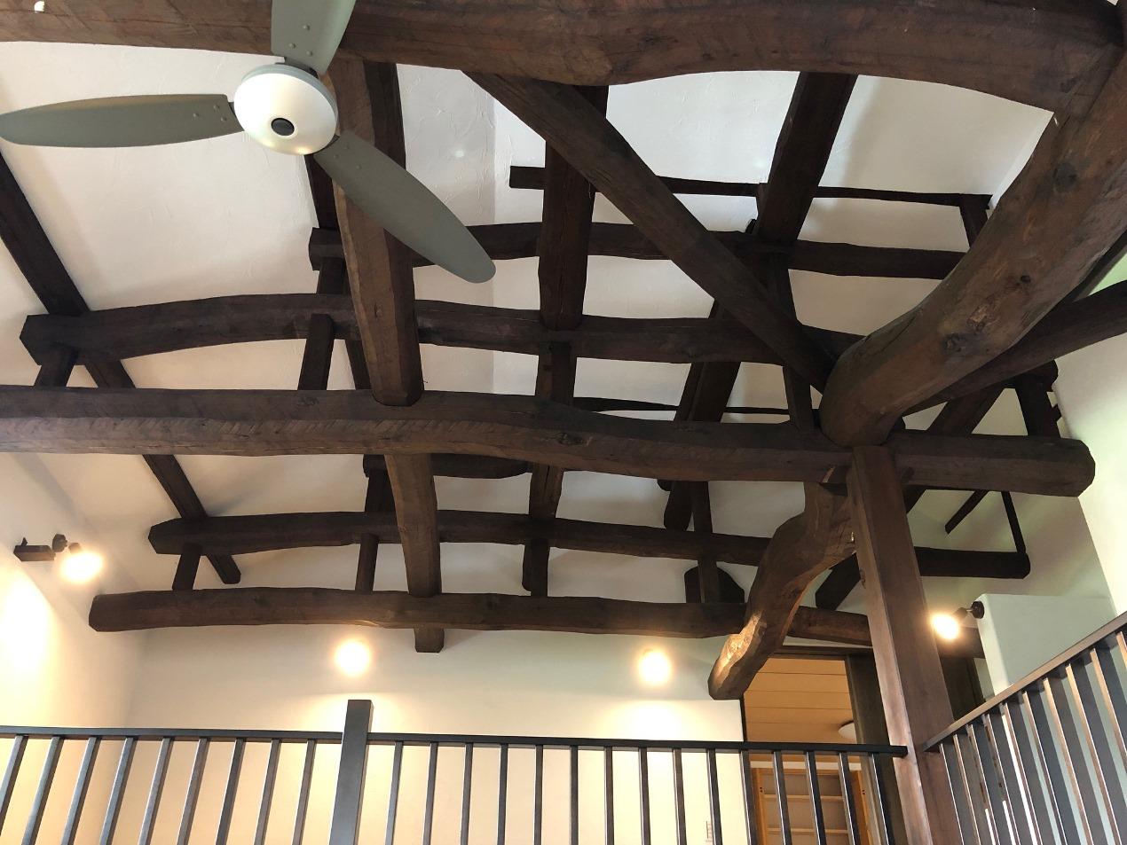 築60年の家の構造材を見せたリフォーム