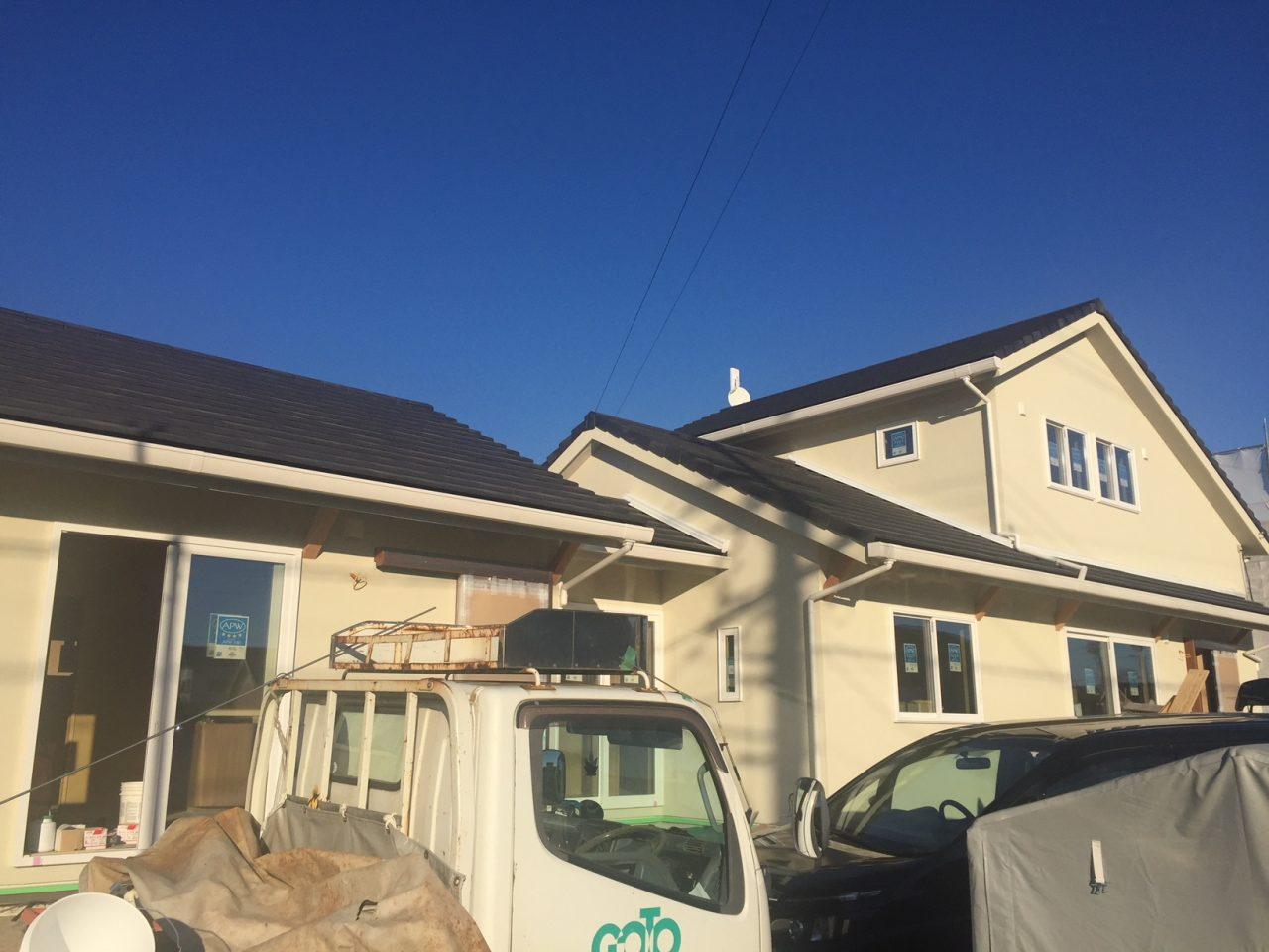 二世帯住宅 もうすぐ完成