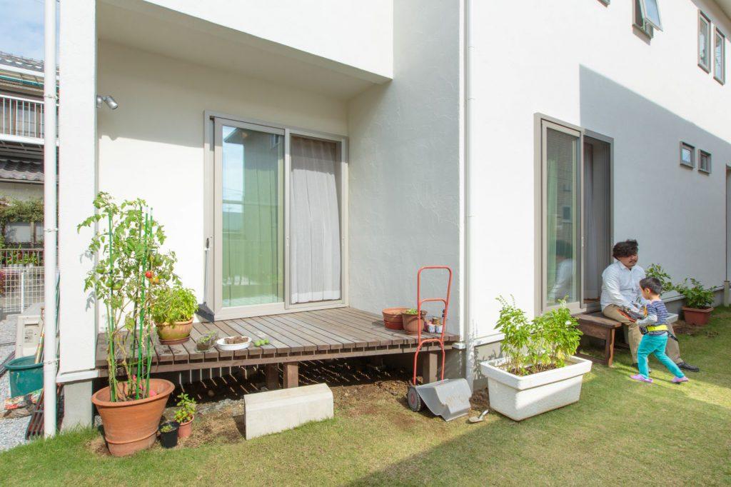 お庭では夢だった家庭菜園を実現