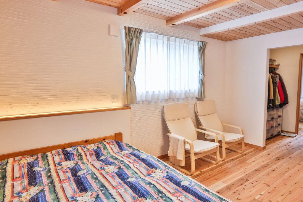 木の香りが気持ちのいい寝室