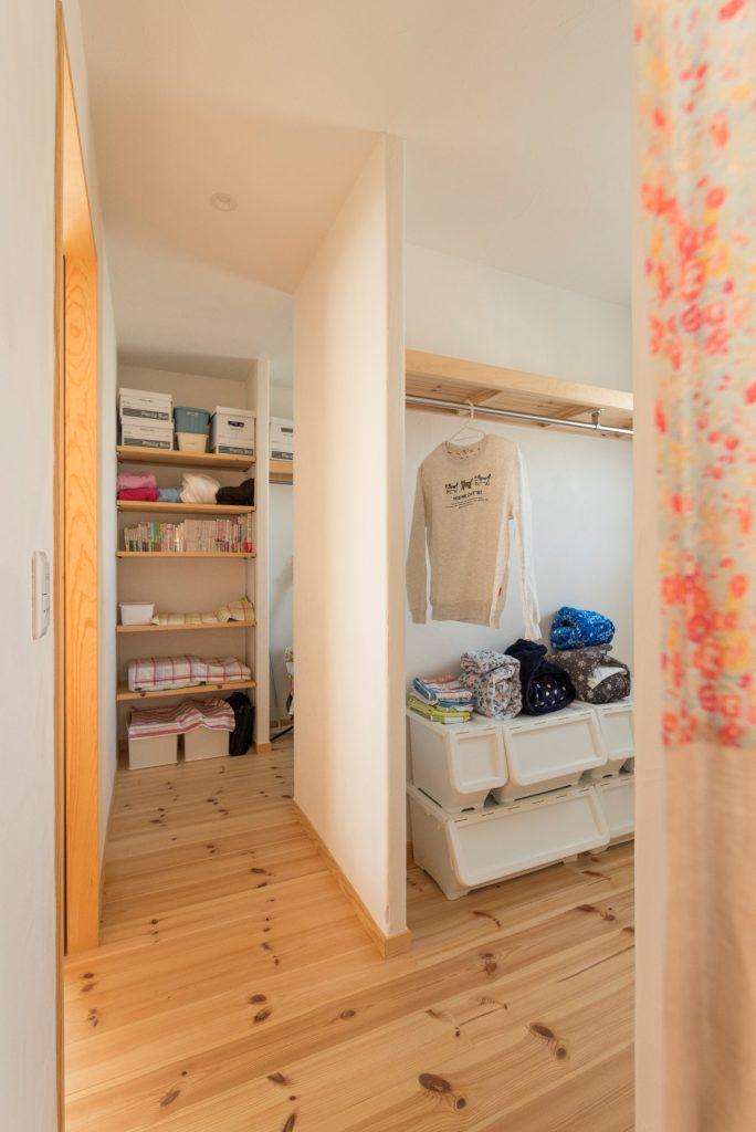 洗濯物がいっぺんに仕舞える 広さ6畳分の大容量クローゼット