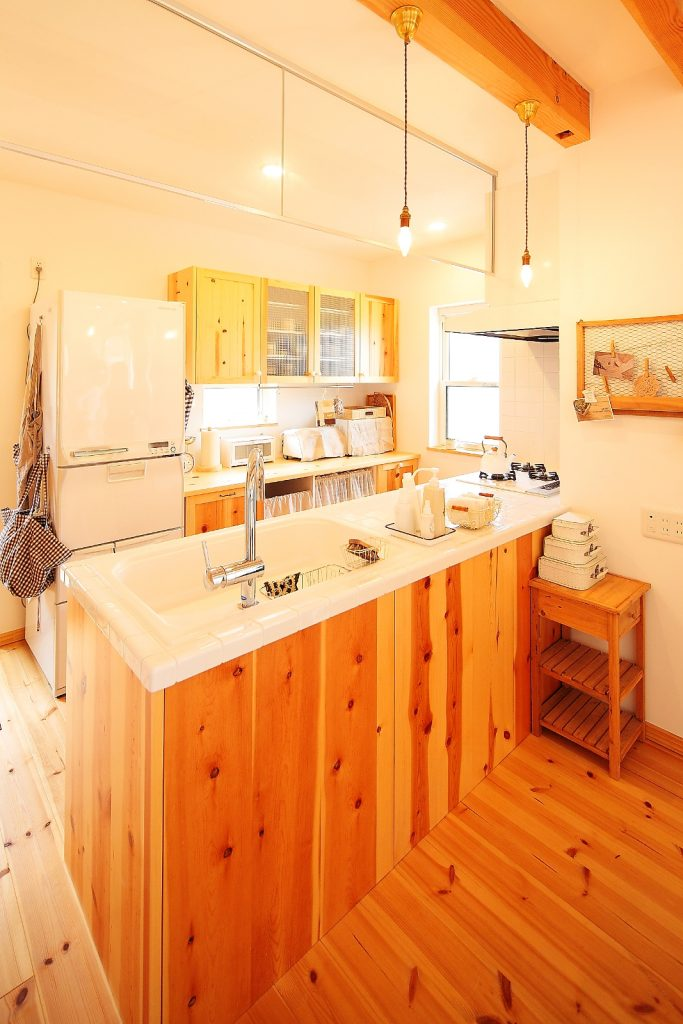 キッチンもナチュラルな雰囲気で統一。