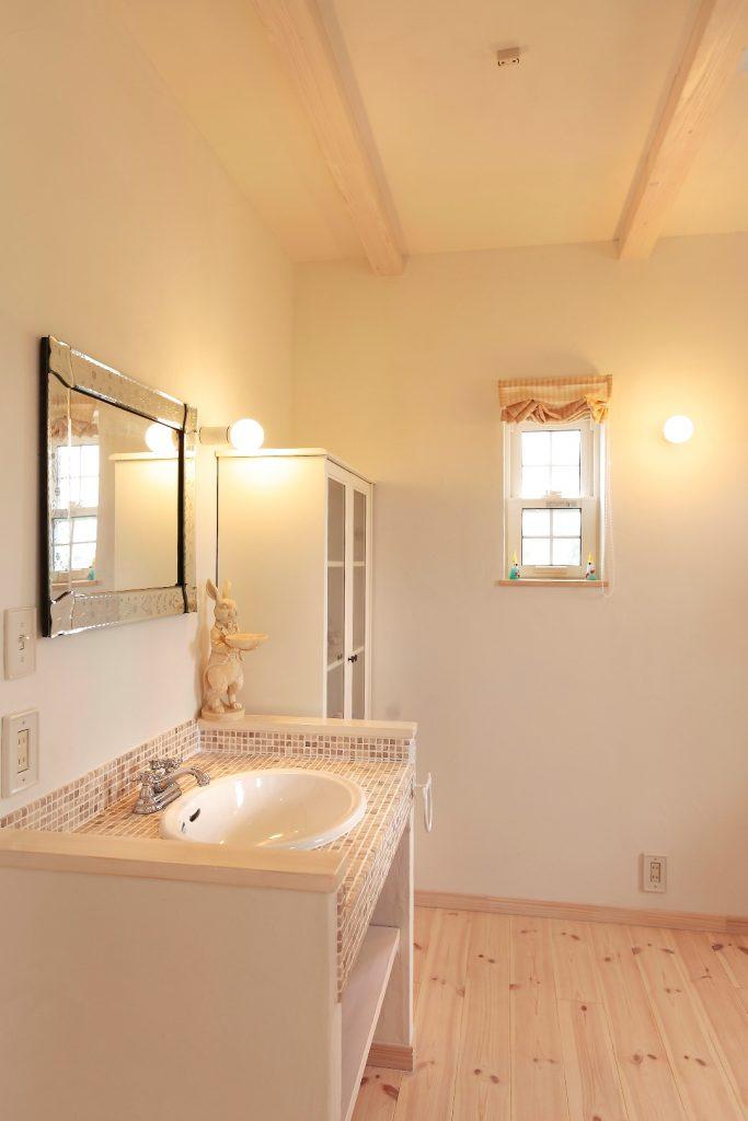 洗面スペースもセンスが光ります。