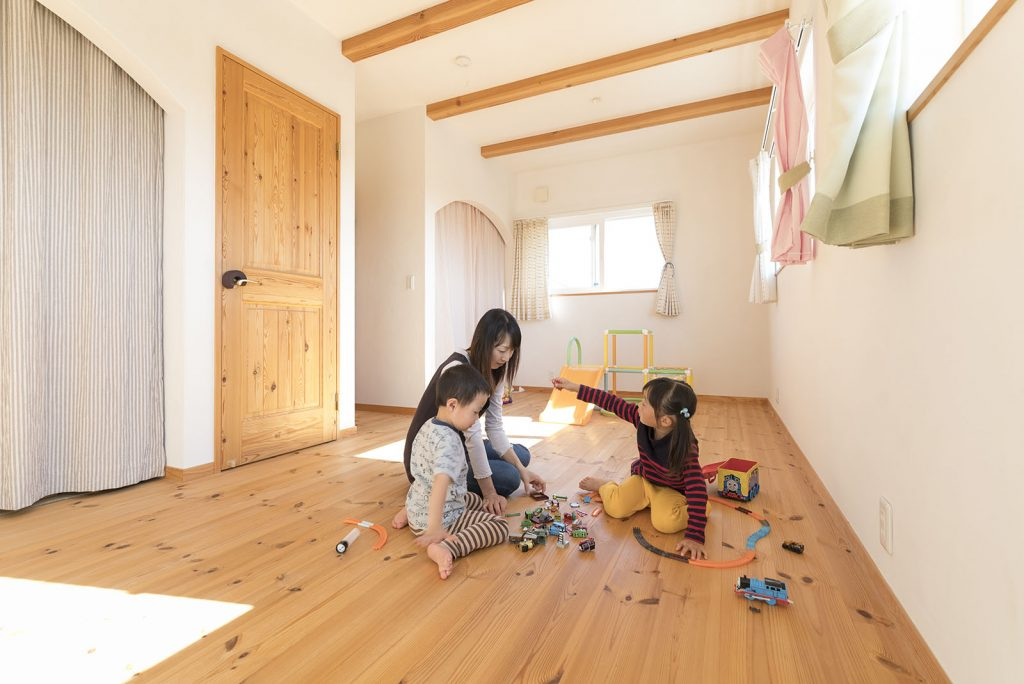 子ども部屋はお子様の成長に合わせて分割できるように設計