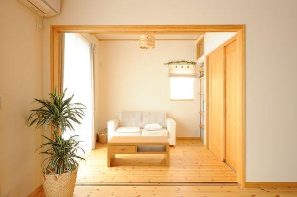 セカンドリビングは、畳をおいて和室にできたり、客間、将来は寝室にと、様々な使い勝手に対応。