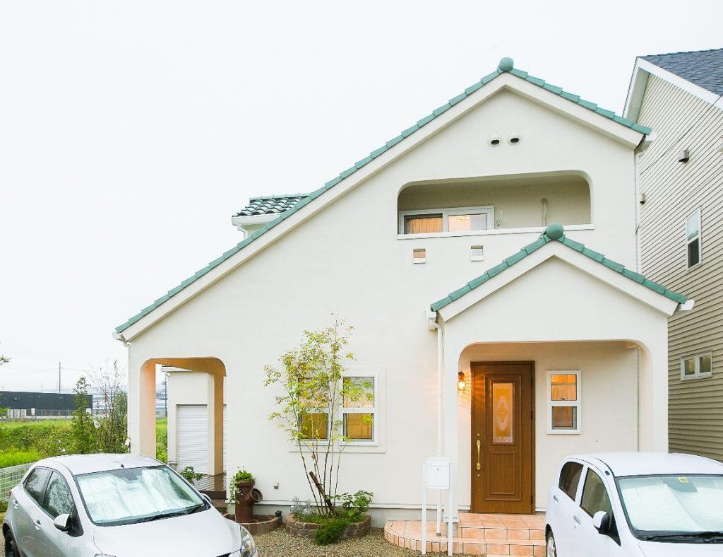 ウッドデッキからのキレイな夕焼けに癒される家
