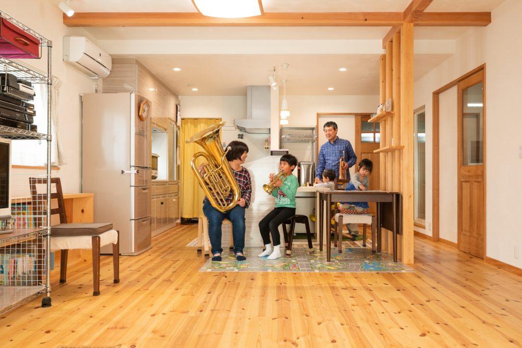 12帖の収納と防音壁の音楽室があるお家