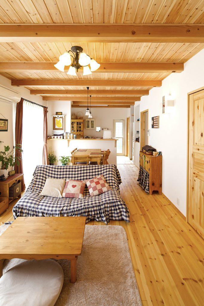自然素材・家具・インテリア・・・。好きなものに囲まれたお気に入りの空間。