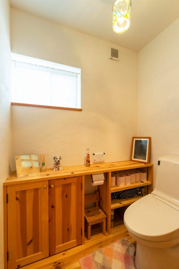 収納しやすく、キレイを保てるトイレ