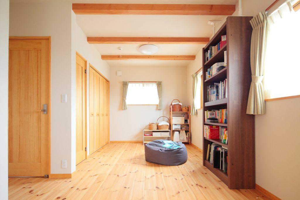 子どもの成長に合わせて仕切ることも可能な子ども部屋。