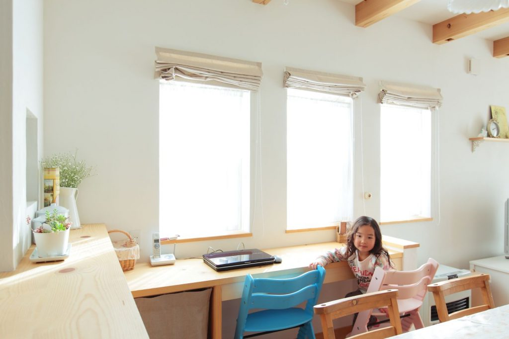 LDKに設けたカウンターはお子様の勉強スペースとしても最適