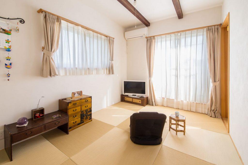 落ちつきのある琉球畳の和室