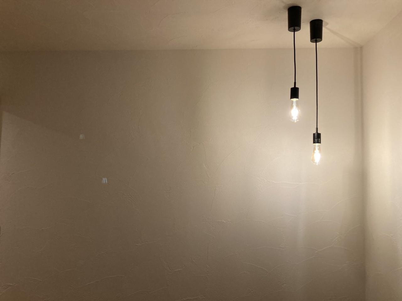 こだわりの室内照明の配置