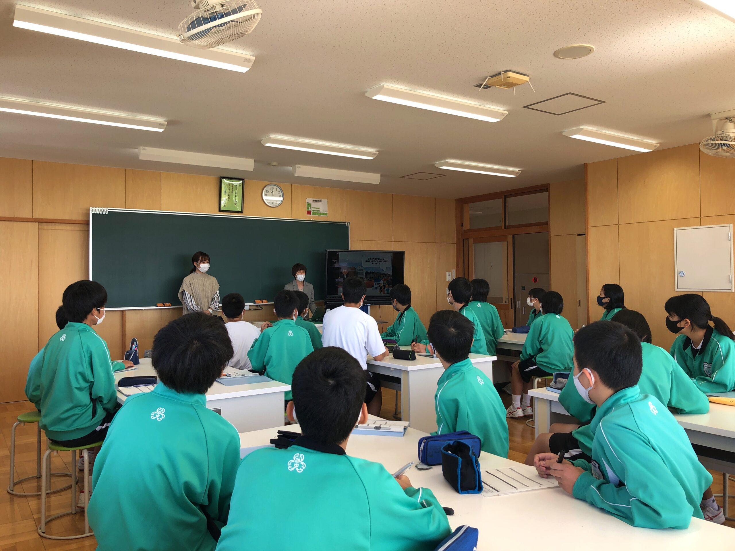 中学校での職業講話
