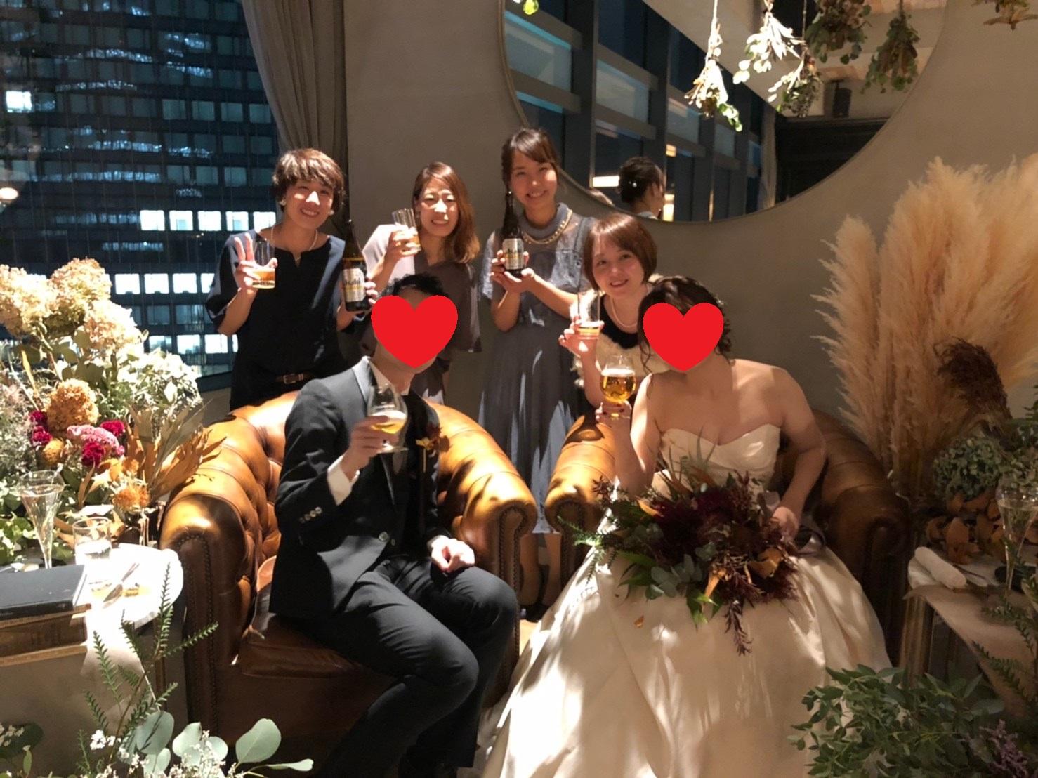 先輩の結婚式