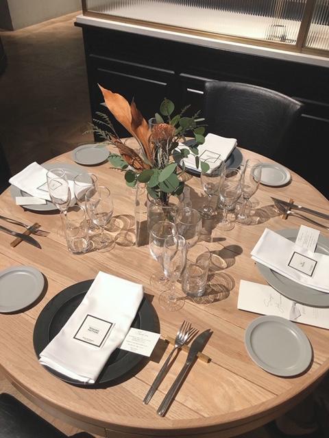 テーブルの装飾